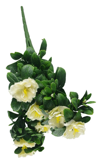 White Rose Bunch UV 45cm
