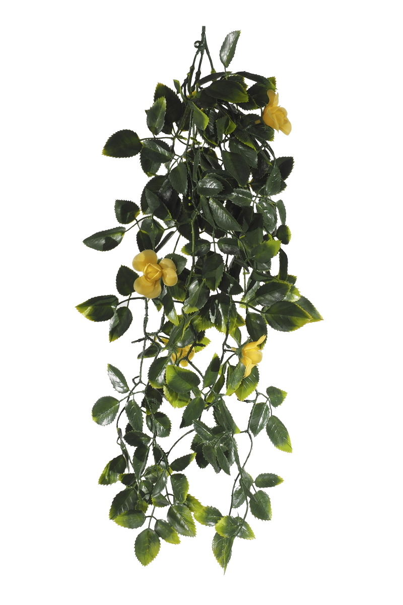 Yellow Mixed Hanging Foliage UV 60cm
