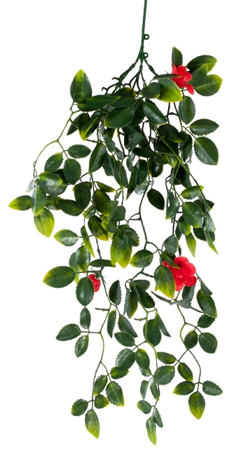 Red Mixed Hanging Foliage UV 60cm