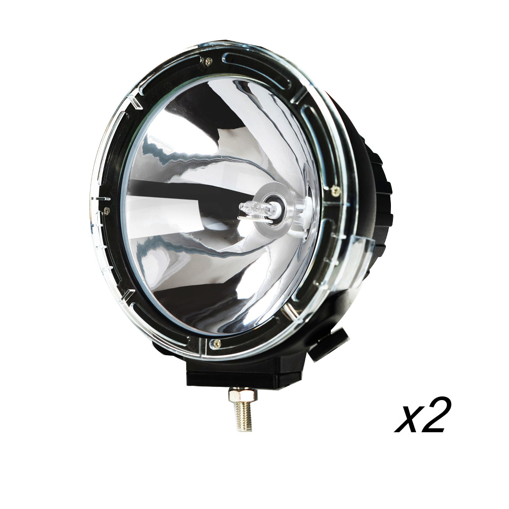 Pair 9inch 100w Lightfox Hid Xenon Driving Lights Spotlight Offroad Work
