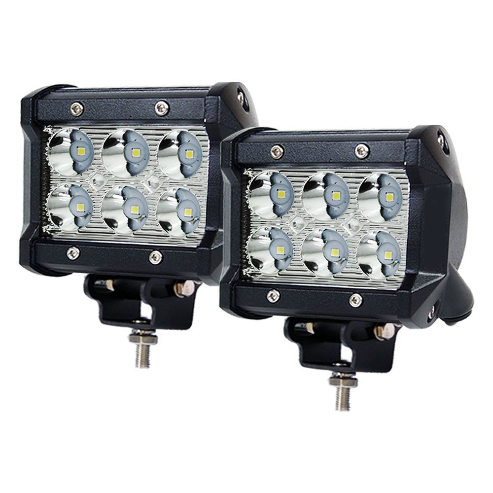 Pair 4inch CREE LED Work Light Bar Spot Beam Offroad Driving Lamp Reverse Fog
