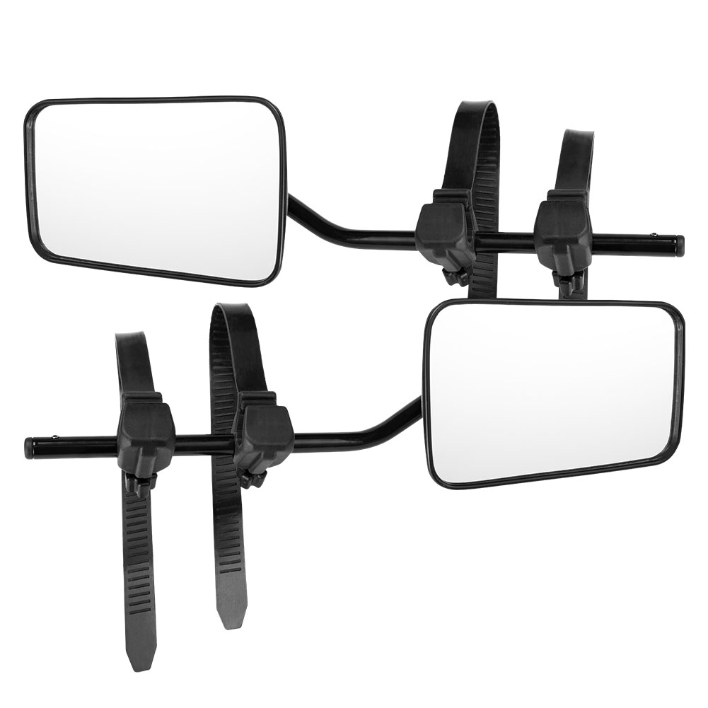 2 x TOWING MIRRORS PAIR CONVEX MIRROR UNIVERSAL FIT TOWING CARAVAN 4X4 TRAILER