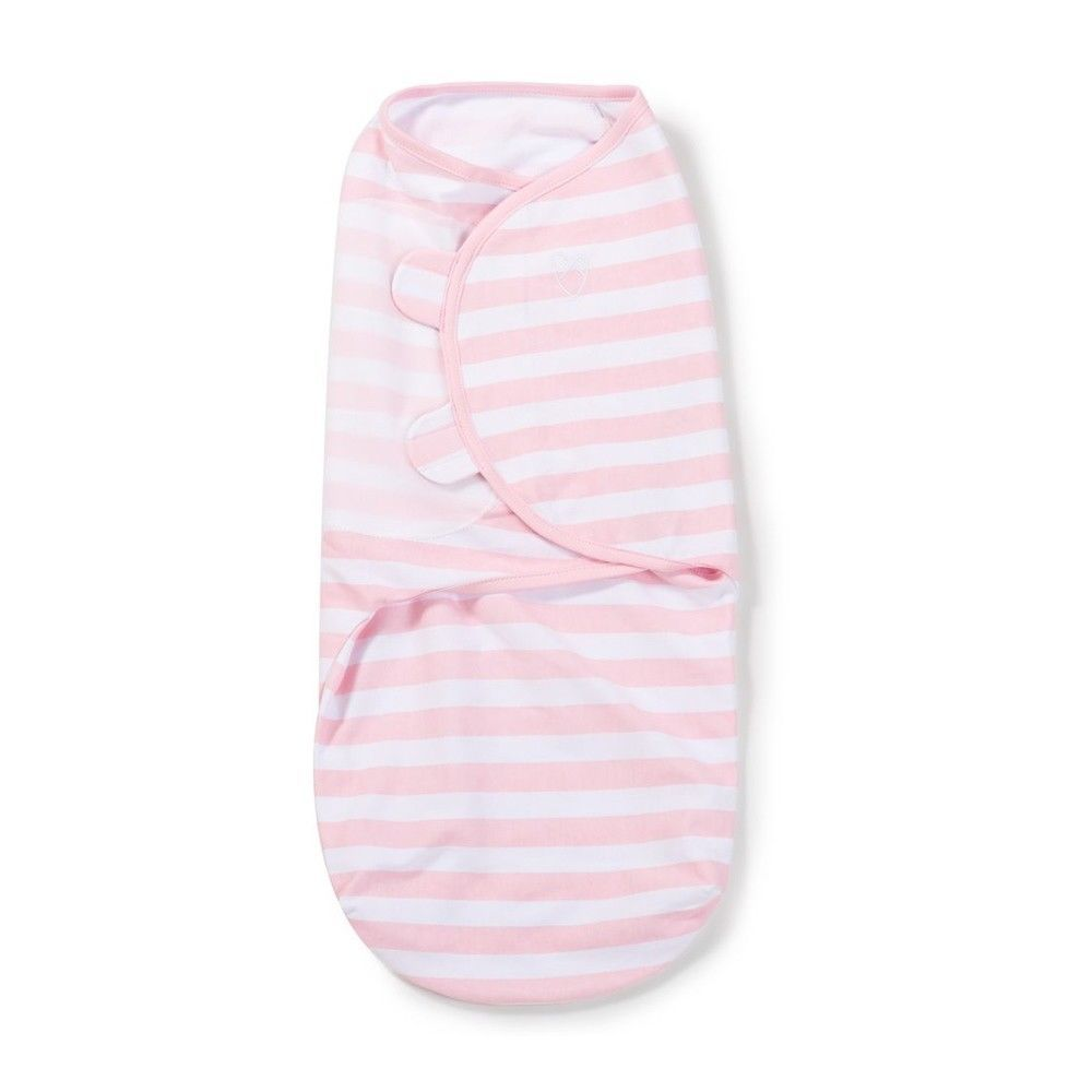 Summer Infant Baby Wrap Swaddle Sleeping Bag Large Pink/White Stripe 1Pk
