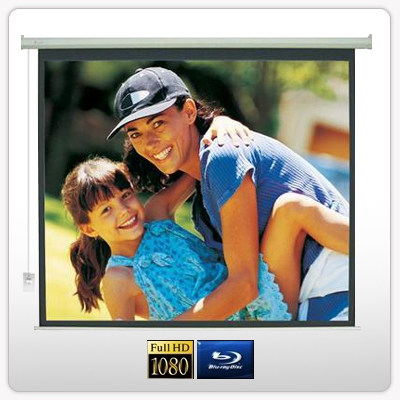 """120"""" Electric Motorised Projector Screen TV +Remote"""