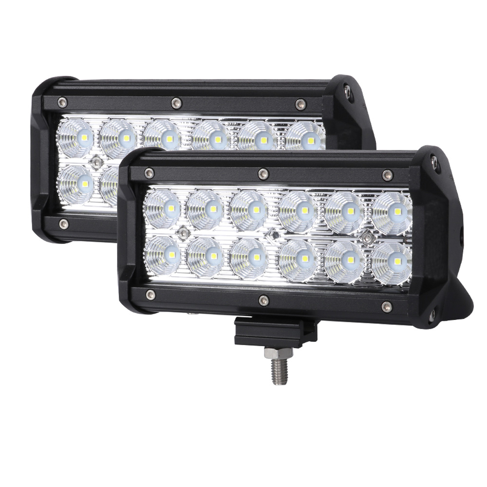 Pair 7inch CREE LED Light Bar Flood Off Road Work Driving Lamp 9""