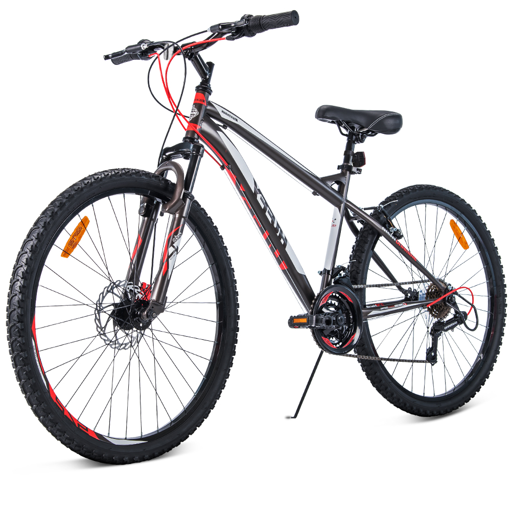 Huffy 27.5inch Mountain Bike Suspension Unisex Bicycle Shimano 18-speed Front Disc Brake