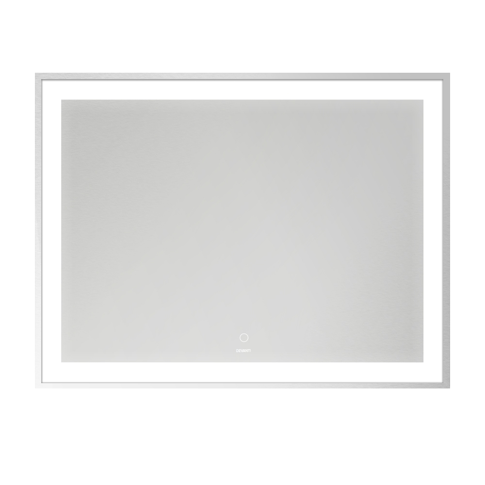 Devanti Bathroom Wall Mirror LED Light Illuminated Makeup Vanity Dressing 900mm x 700mm
