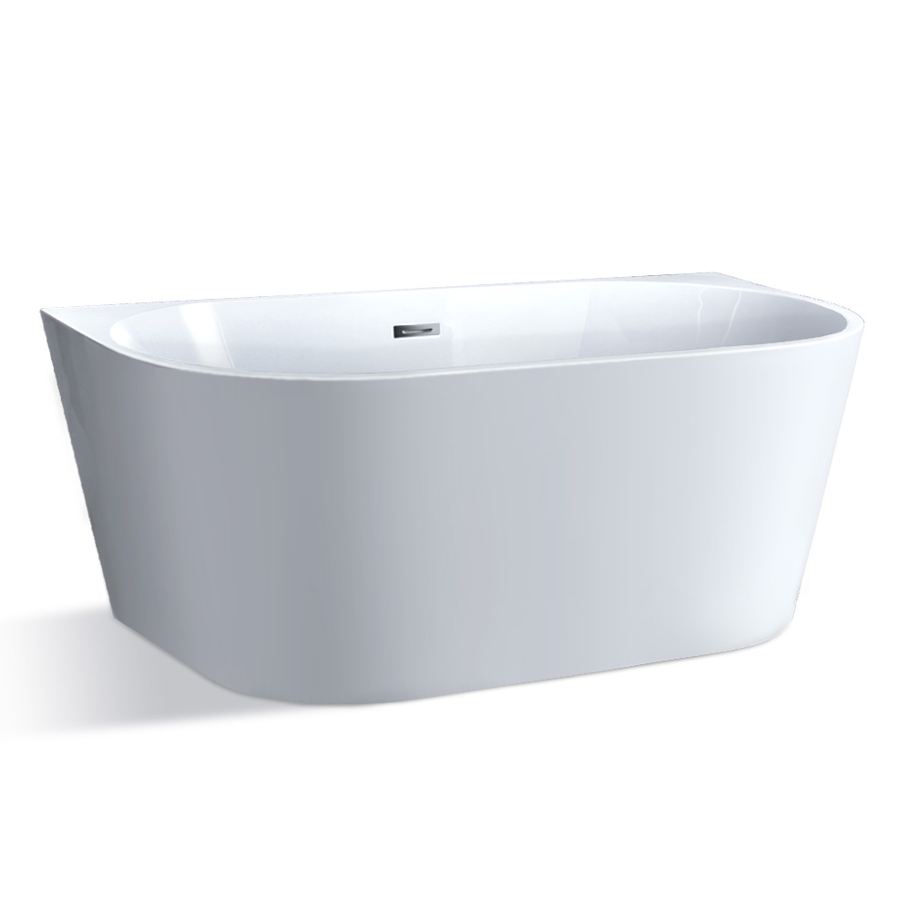 Cefito Free Standing Bath Tubs Acrylic Bathroom Back To Wall SPA Tub 150x75x58CM