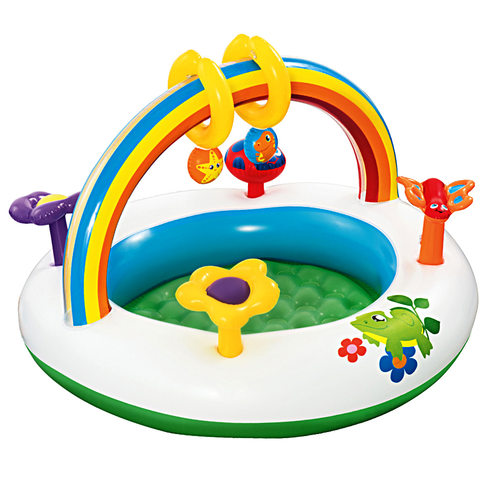 Bestway Inflatable Play Kids Pool Child Activity Gym Center Rainbow Go and Grow