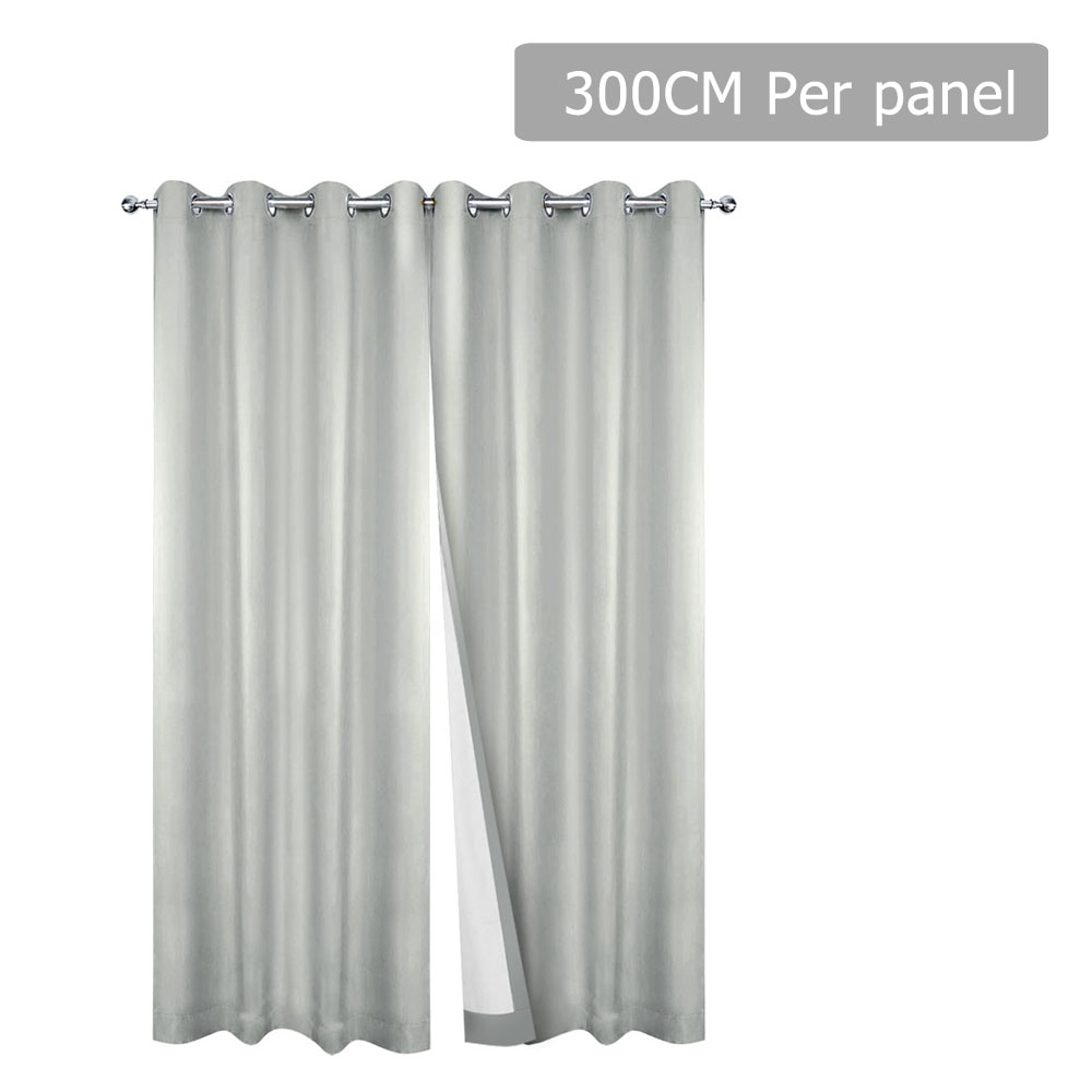 Art Queen 2 Panel 300 x 230cm Eyelet Blockout Curtains - Ecru