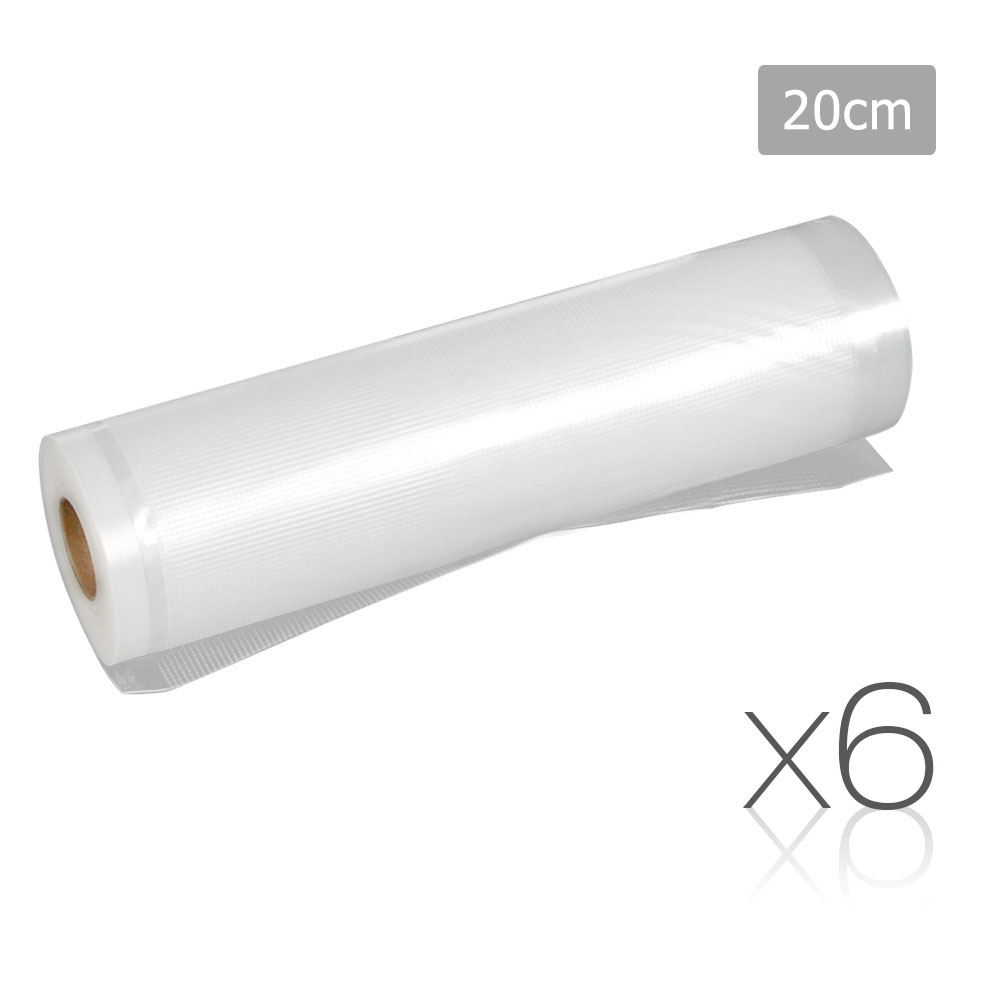 Set of 6 Food Sealer Roll 20cm