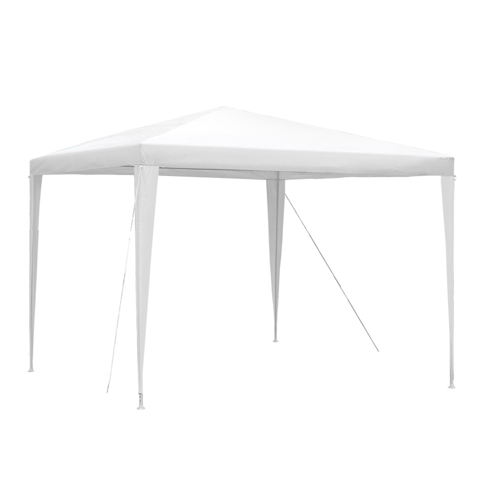 Instahut 3x3m Wedding Gazebo Tent Party Event Marquee Shade White Without Panel
