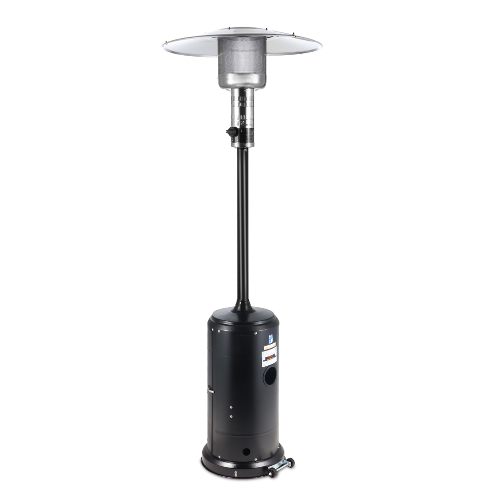 Devanti Portable Gas Patio Heater - Black and Silver