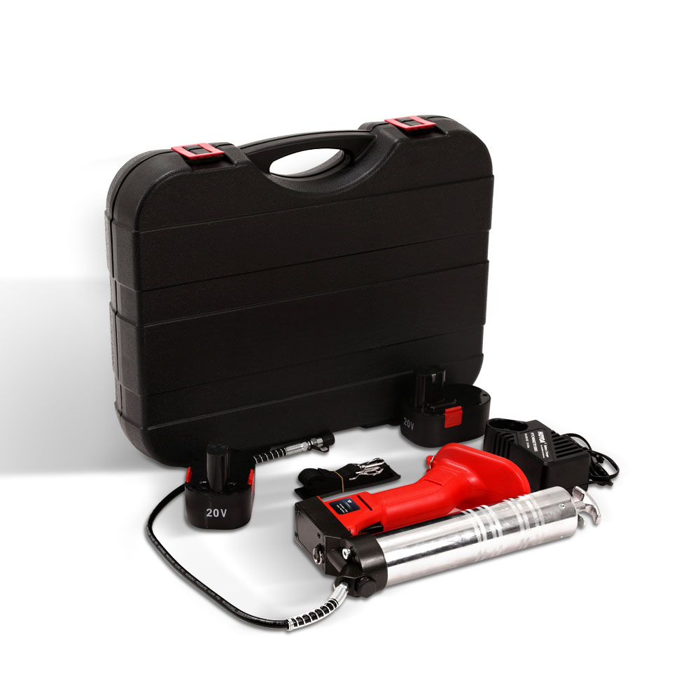 Giantz 20V Rechargeable Cordless Grease Gun - Red