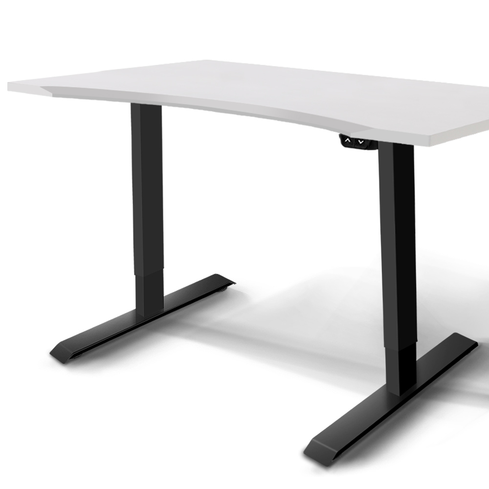 Artiss Roskos I Electric Motorised Height Adjustable Standing Desk 140cm Sit Stand Curved Table
