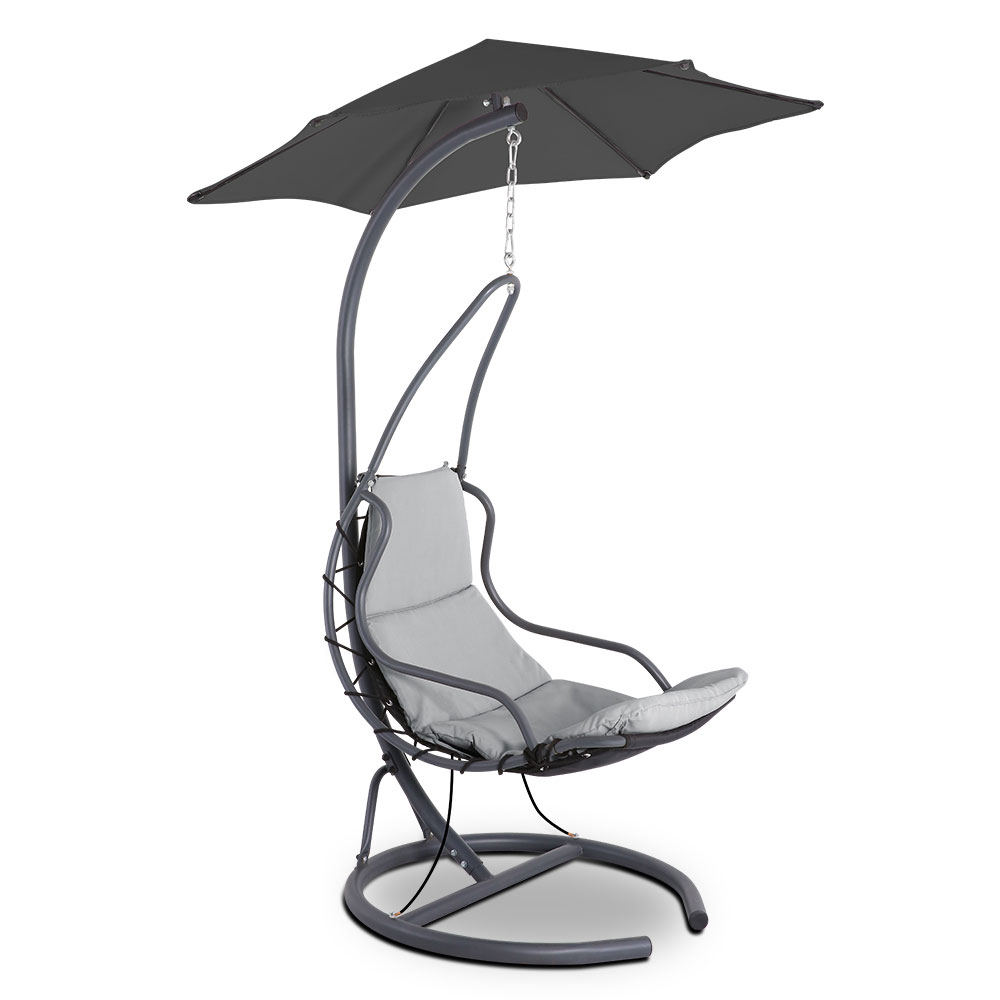 Gardeon Outdoor Swing Hammock Chair w/ Cushion Grey