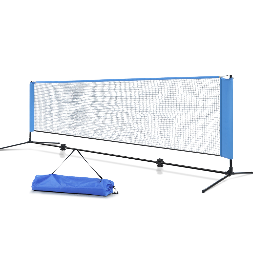 Everfit Portable Sports Net Stand Badminton Volleyball Tennis Soccer 3m 3ft Blue