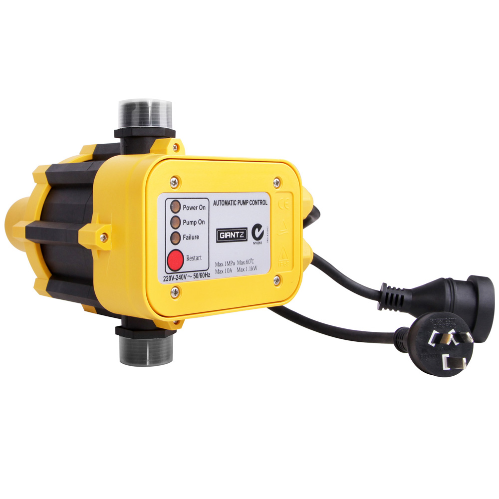 Giantz Automatic Electronic Water Pump Controller - Yellow