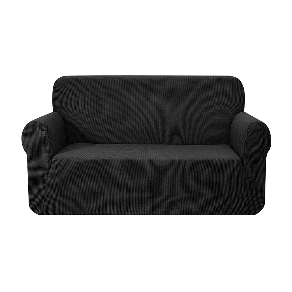 Artiss High Stretch Sofa Cover Couch Protector Slipcovers 2 Seater Black