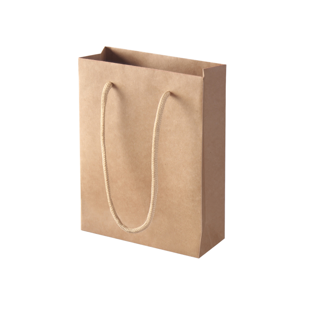 50pcs Kraft Paper Carry Bags Shopping Gift Bag Bulk Brown 150 x 200 x 60mm