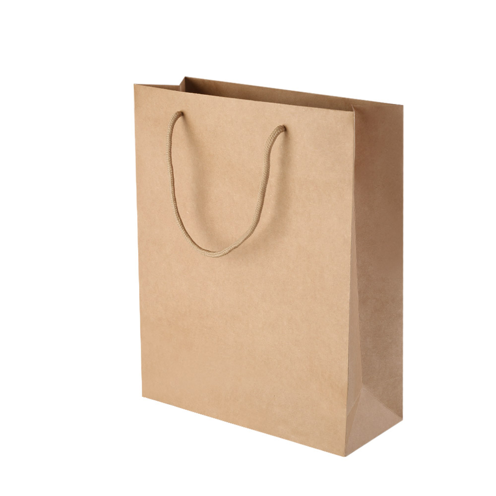 100pcs Kraft Paper Carry Bags Shopping Gift Bag Bulk Brown 280 x 330 x 100mm