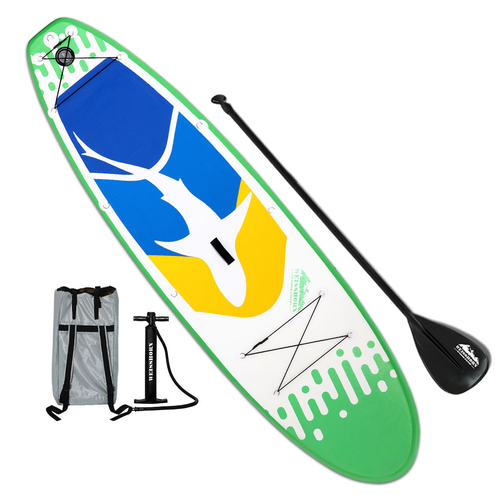 Weisshorn 10FT Stand Up Paddle Board Inflatable SUP Surfborads 10CM Thick