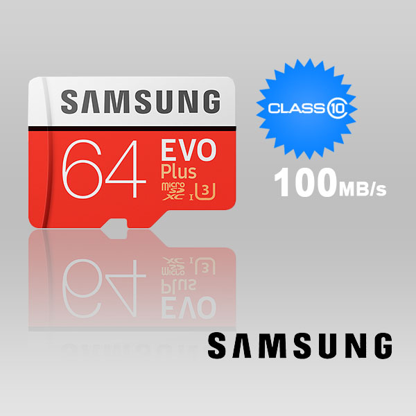 SAMSUNG 64GB UHS-I Plus EVO CLASS 10 U3 4K Without ADAPTOR 100R/60W MB-MC64G
