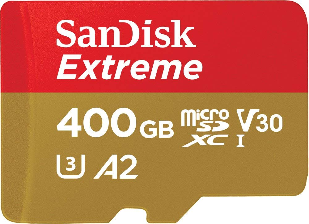 SANDISK SDSQXA1-400G-GN6MATF Extreme A2 V30 UHS-I/U3 160R/90W WITH SD ADAPTER