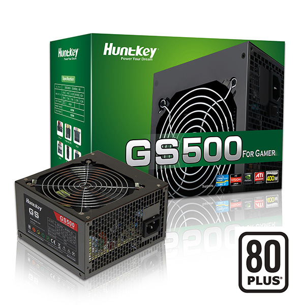 HUNTKEY GS500 POWER SUPPLY 500W 80 PLUS SILENT