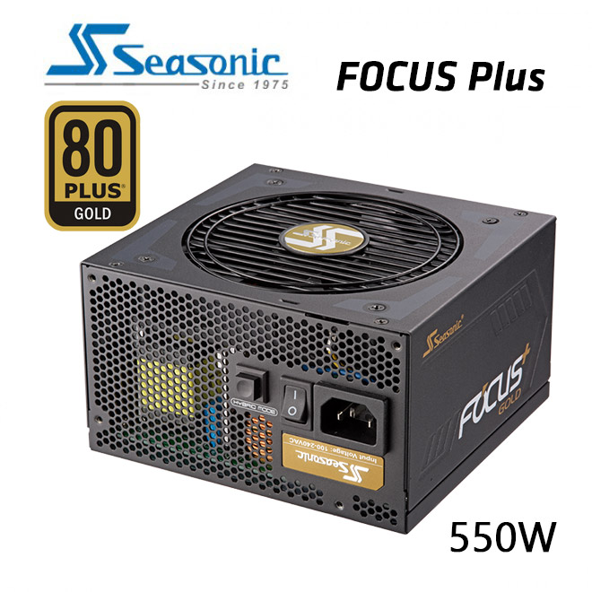 SeaSonic 550W FOCUS PLUS Gold PSU (SSR-550FX)