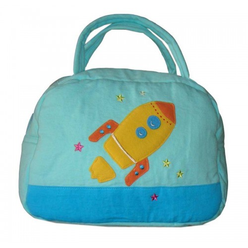 Rocket Lunch Box Cover Blue