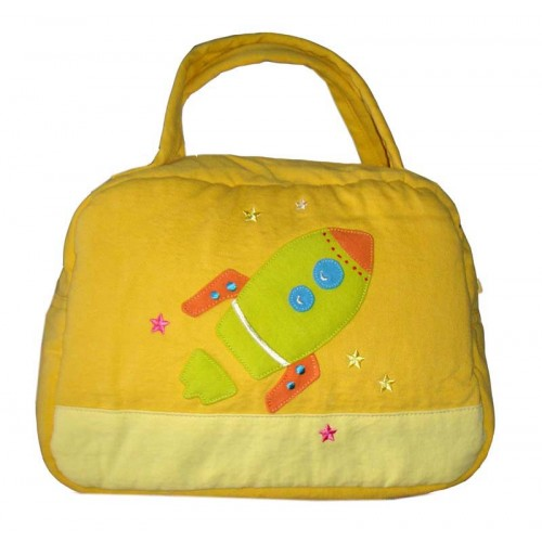 Rocket Lunch Box Cover Yellow