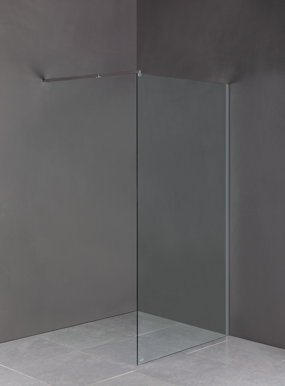 1100 x 2100mm Frameless 10mm Safety Glass Shower Screen