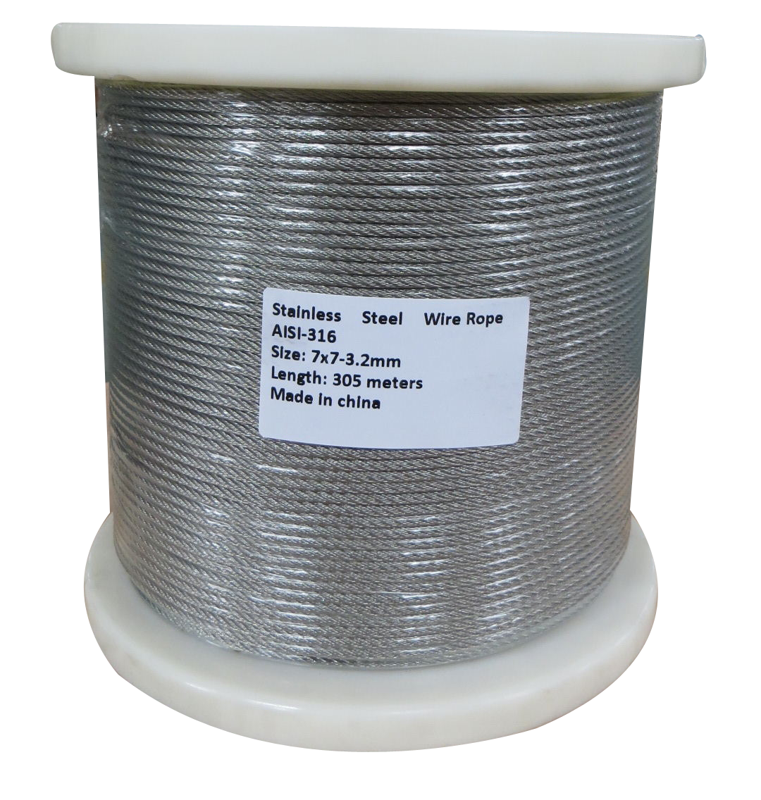 305M G316 STAINLESS STEEL WIRE ROPE 3.2MM BALUSTRADE