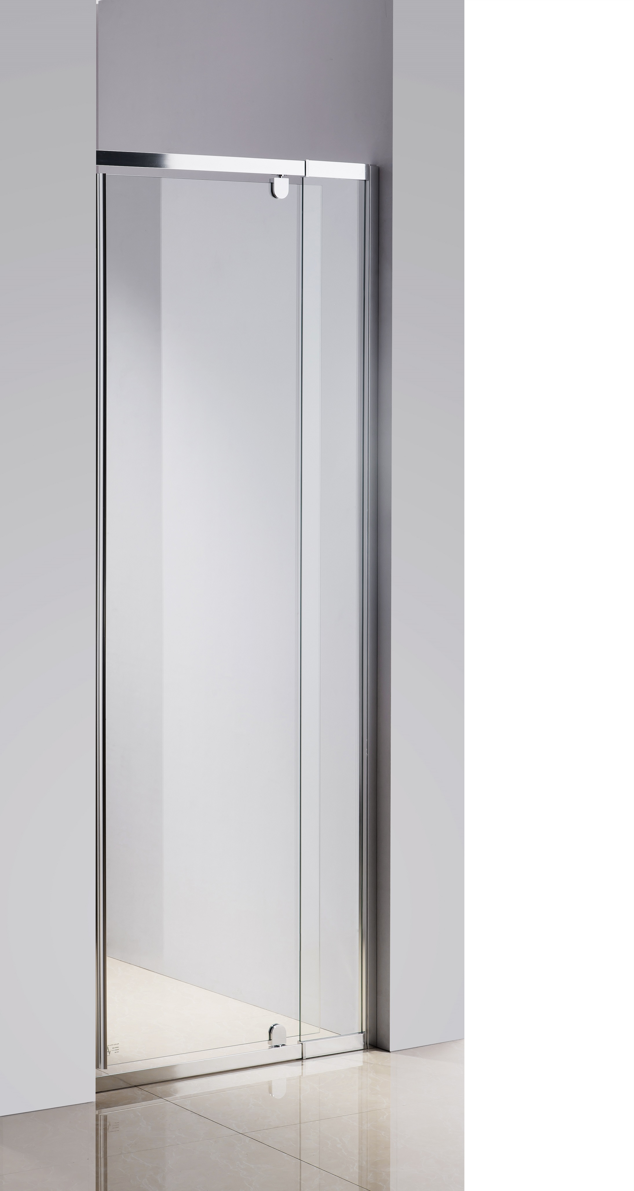 720-800 Finger Pull Wall to Wall Shower Screen By Della Francesca