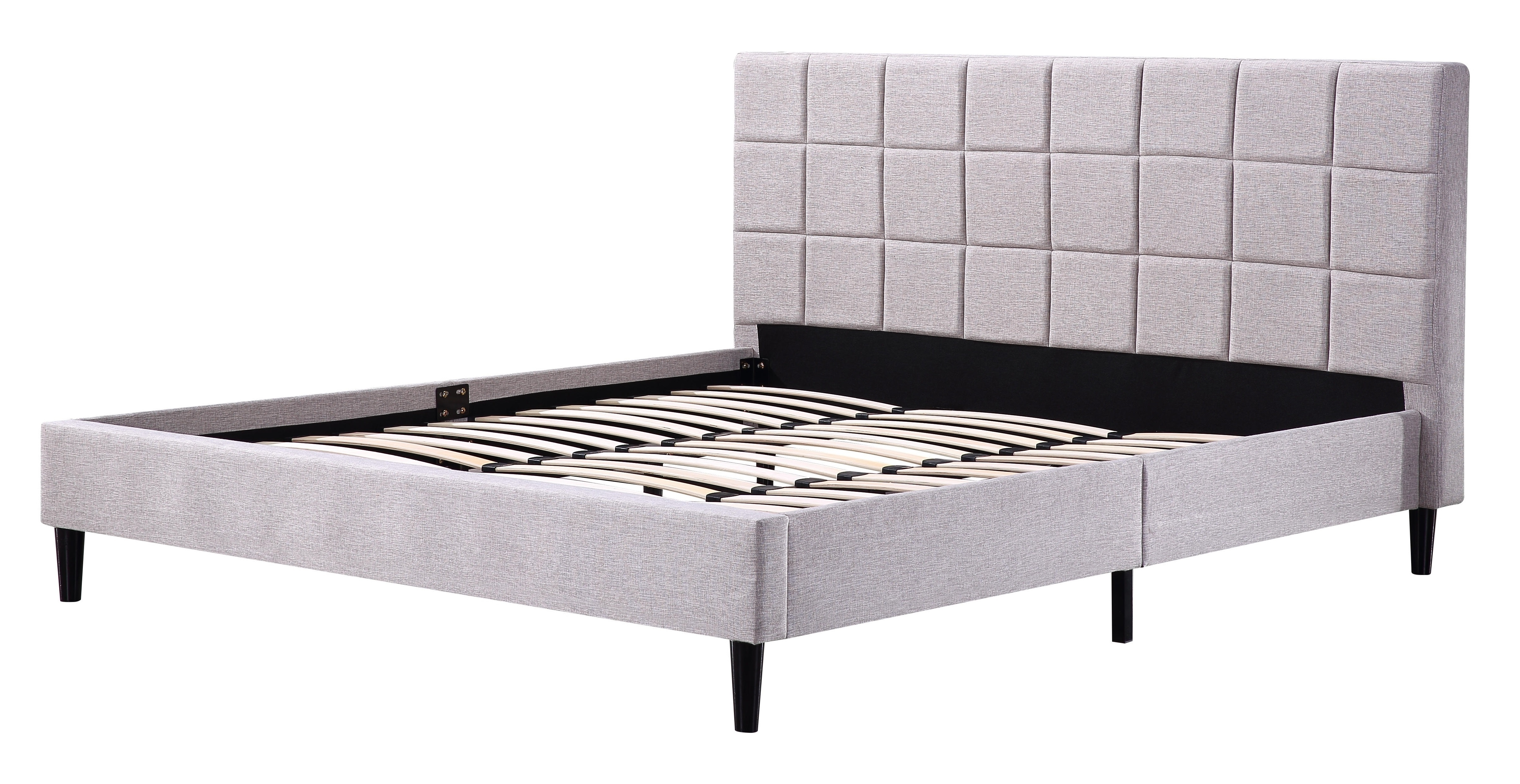 King Linen Fabric Deluxe Bed Frame Beige