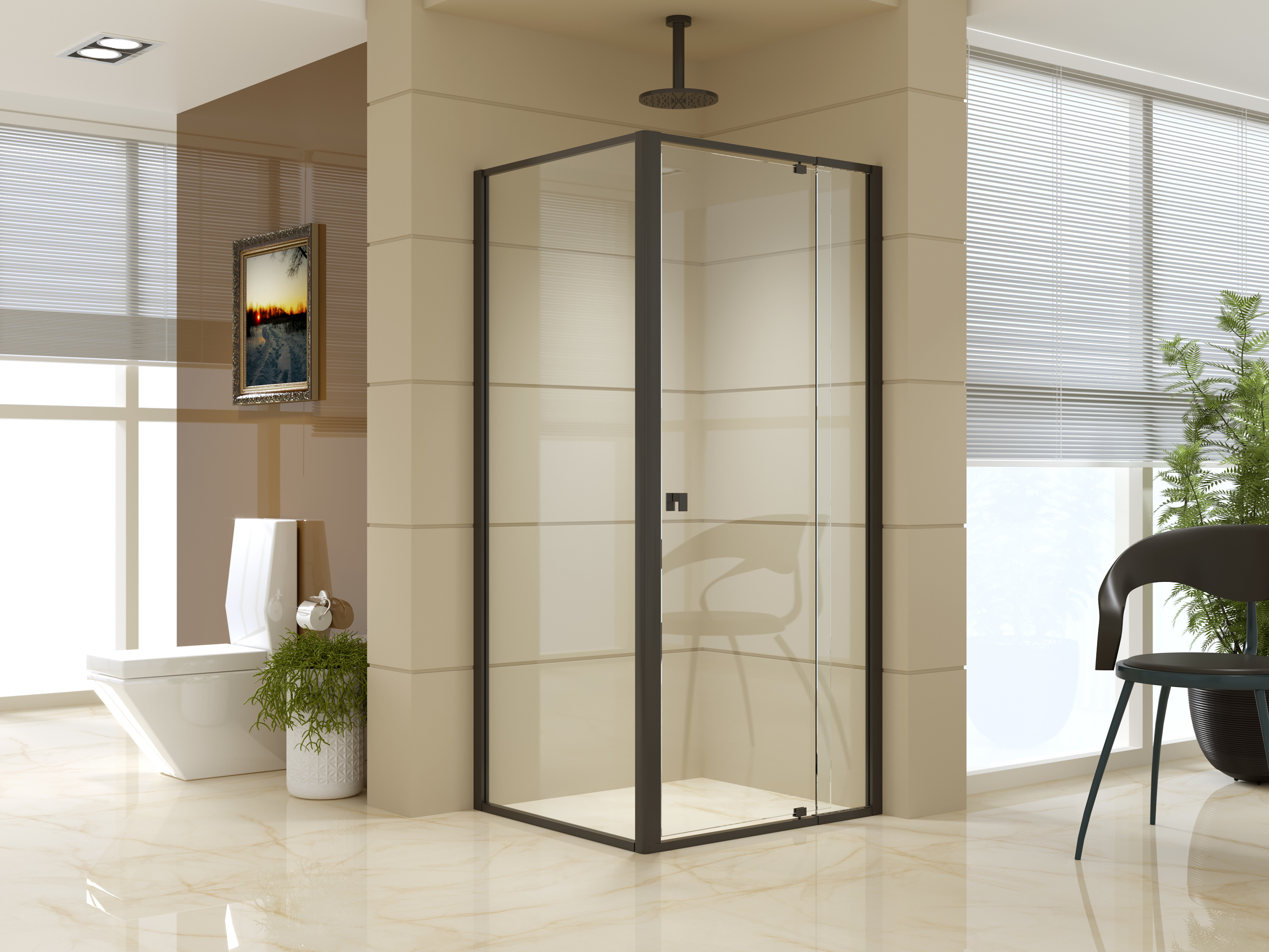 Semi Frameless Shower Screen (82~90)x 195cm & (77~80)x 195cm Side AS/NZS Glass