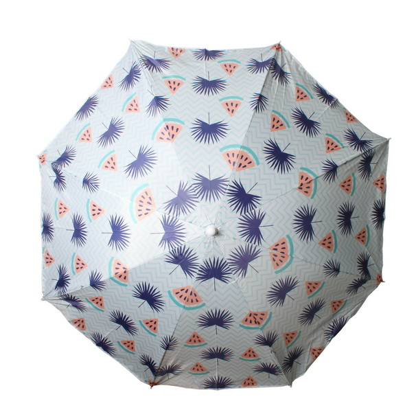 Beach Umbrella 180cm Watermelon Palm Design