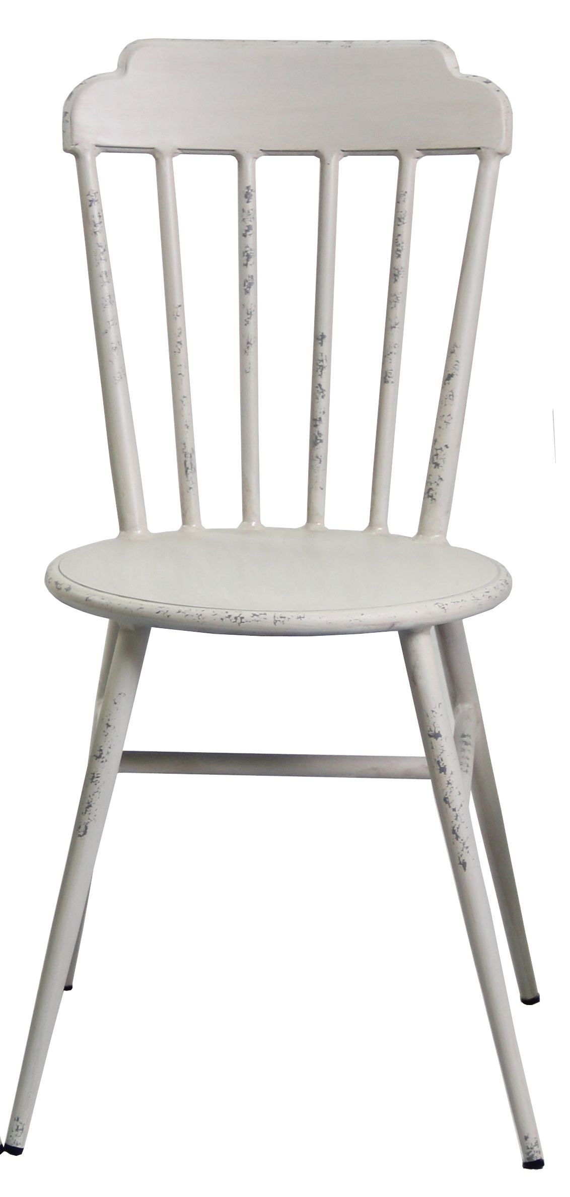 Aluminium Windsor Dinning Chair Retro White Set of 2