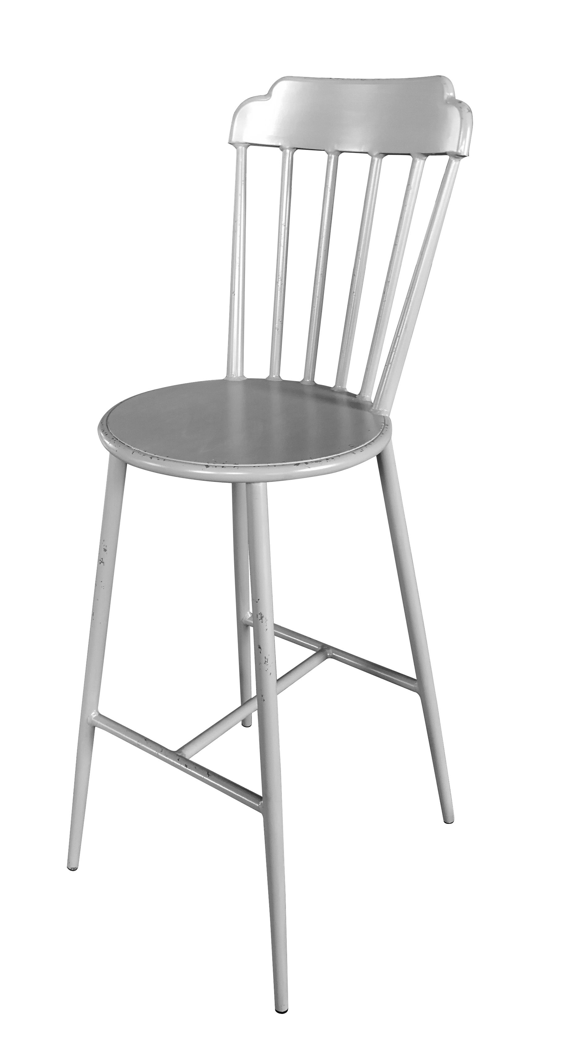 Aluminium Windsor Bar Chair Retro Grey Set of 2