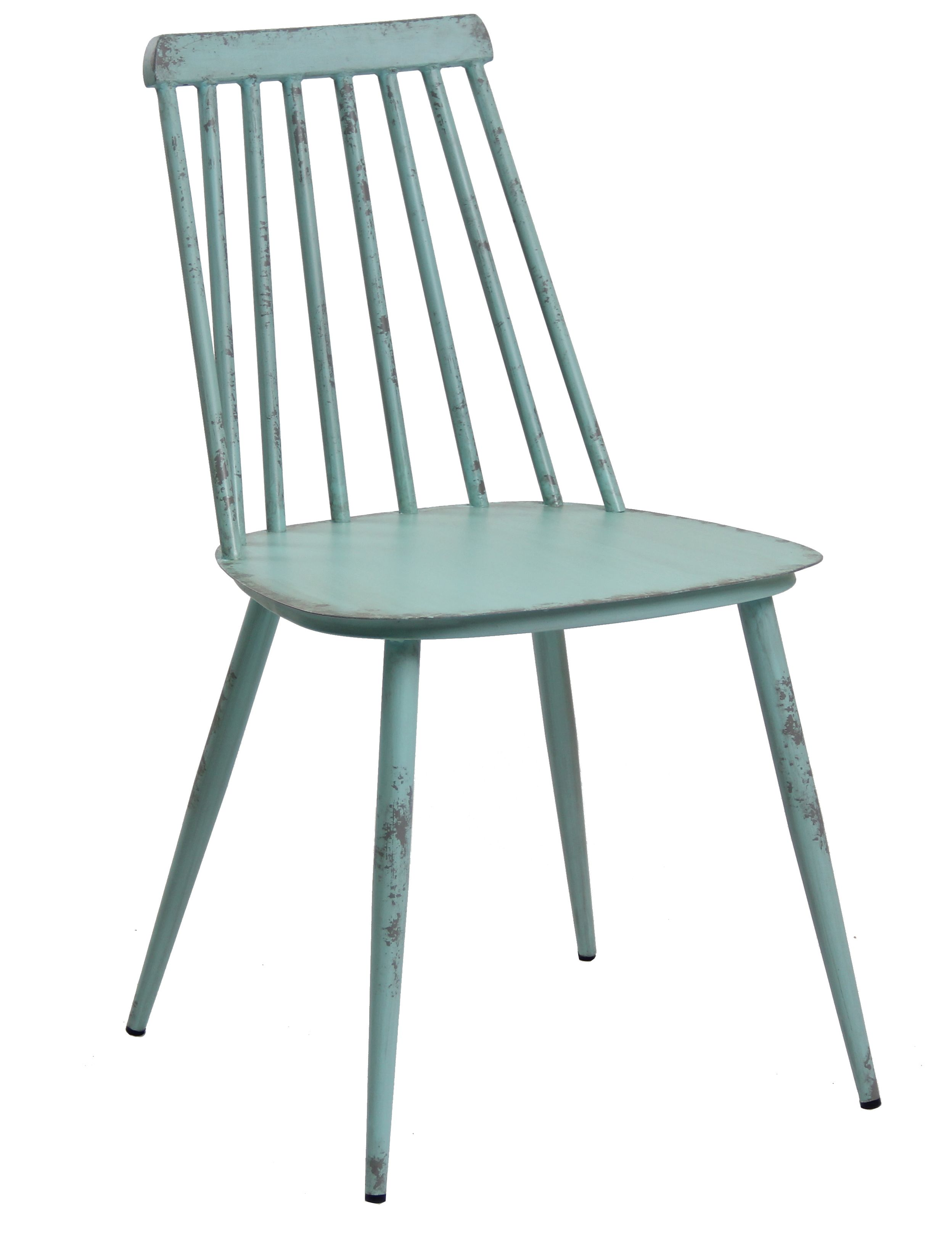 Aluminium Dinning Chair Retro Blue Set of 2