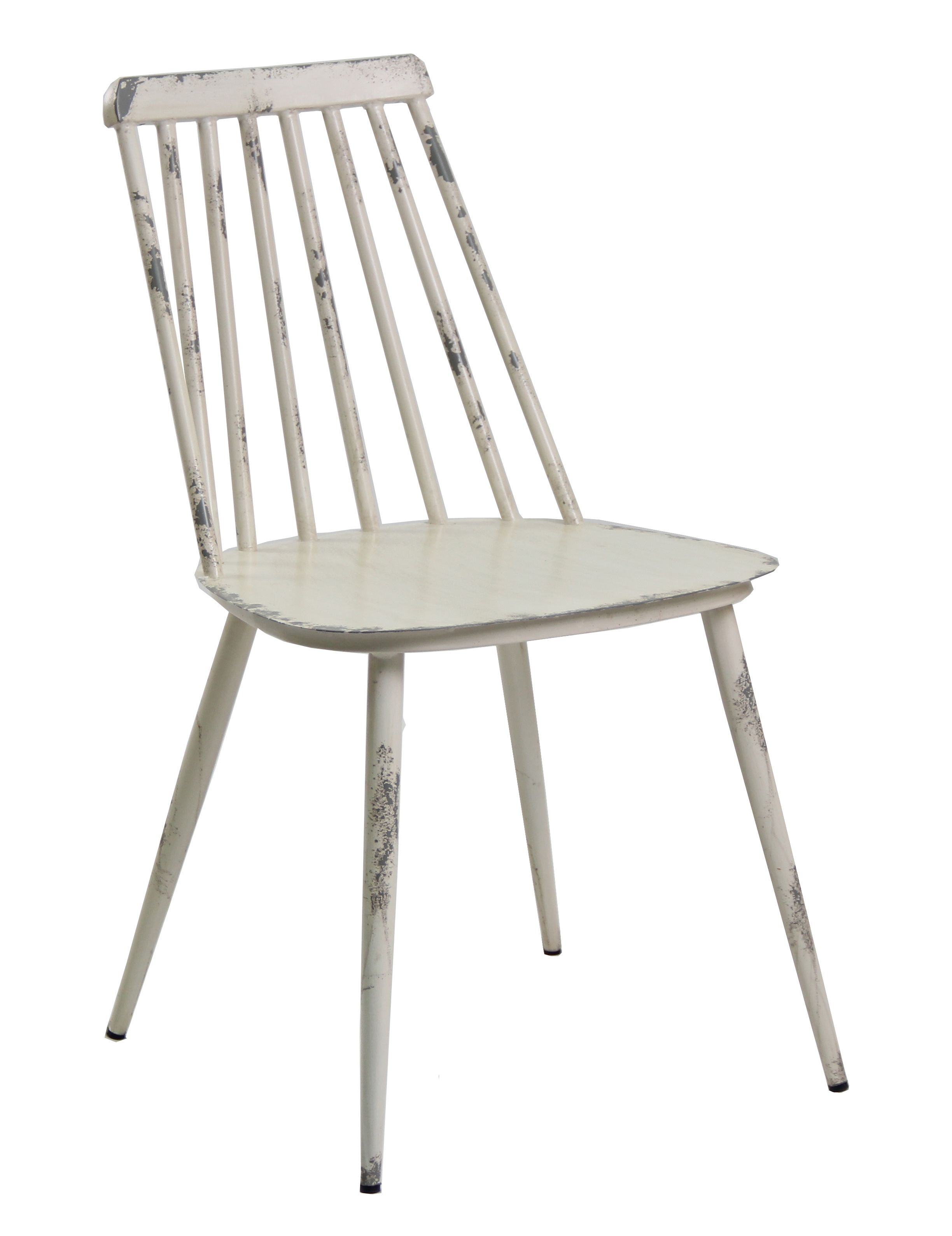 Aluminium Dinning Chair Retro White Set of 2
