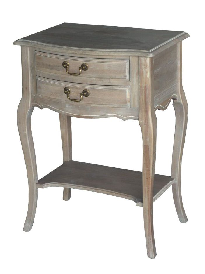 Wash White French Provincial Louis XV Night Stand
