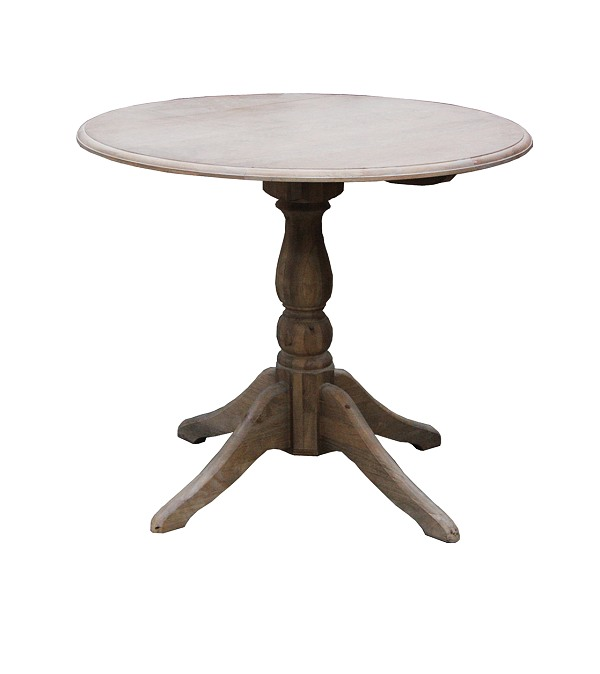 Wash White DropDown Round Table