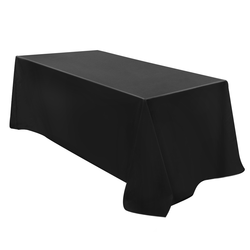 Set of 6 Rectangle Table Cloths Wedding tablecloths Black 320X153CM