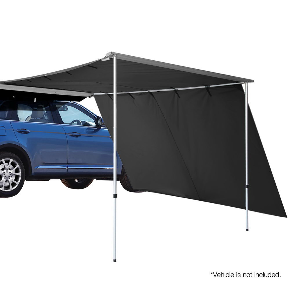 Weisshorn Car Shade Awning 3 X 3M W/ Extension 3 X 2M   Charcoal Black