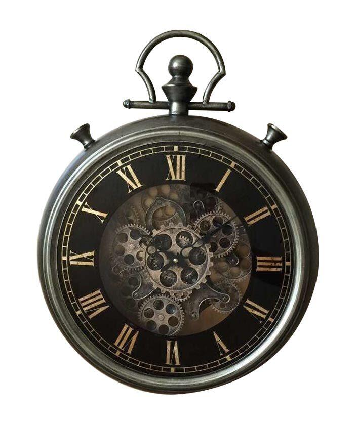 Luxurious Rotary Gears Metal Clock With Hook