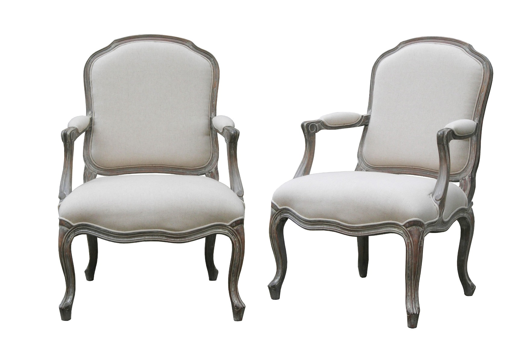 Wash White Louis XV Chair
