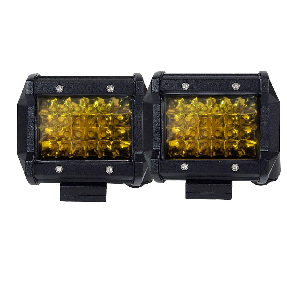 2x 4 inch Spot LED Work Light Bar Philips Quad Row 4WD Fog Amber Reverse Driving