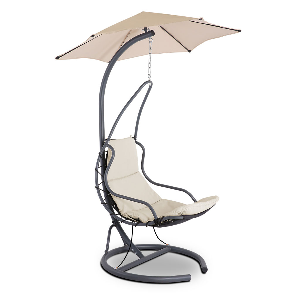 Gardeon Outdoor Swing Hammock Chair  w/ Cushion Beige